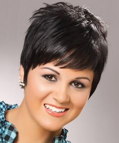 Short Straight Casual Hairstyle - Black (Ash)   TheHairStyler.com