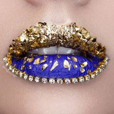 Lip art by (@olgavisage)