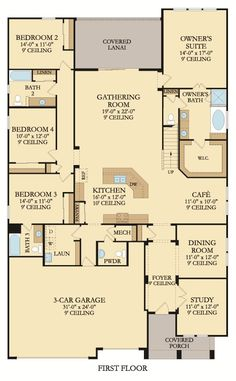 Julien Bonus model home first floor plan #Lennar #DreamHome