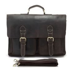 Horse Leather Style Men's Briefcase Bag Handbag Laptop Bag1