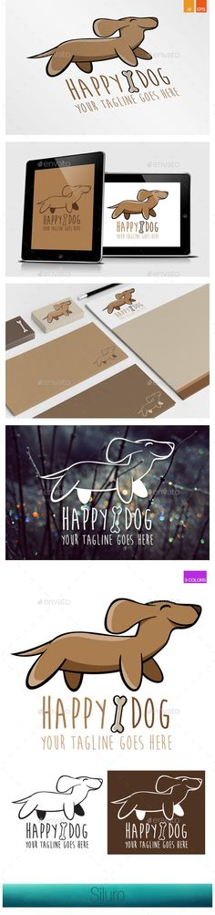 Happy Dog Logo — Vector EPS #hotel #small • Available here → https://graphicriver.net/item/happy-dog-logo/8939484?ref=pxcr