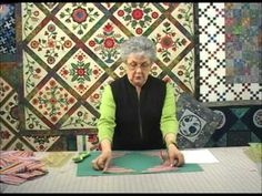 The Quilt Show Tutorial: Sharon Pederson - Lesson 3 - Learn how to cut striped fabric into proper corner triangles