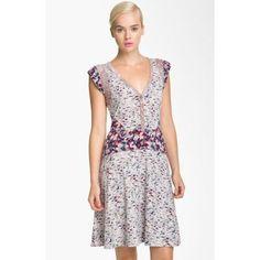 'Mokume Floral' Jersey Dress
