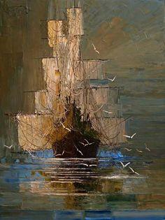 As cores de Justyna Kopania! Oil painting.