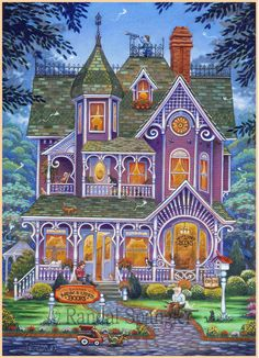 Village Bookstore by Randal Spangler ~ Victorian house