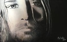 Acrylic on canvas. Commissioned portrait of Kurt Cobain. South African artist. Instagram @mlovestodaydream