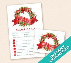 christmas bunco score sheets free - Google Search | party ideas ...
