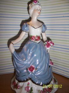 Porcelain Figurine Lady in Blue. Mama had this too, I have it now, and my daughter will have it someday.