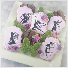 "Meyada Halbouni on Instagram: ""Part of a fairy garden set I made this week. Love how the ""wood"" cookies turned out  #customcookies #customsweets #cookies #cookieart #cookiefun #sugarart #sugarcookies #icing #handpainted #decoratedsugarcookies #decoratedcustomcookies #fairycookies #gardencookies #decoratedcookies #londonontario #fairies #customdecoratedcookies"""