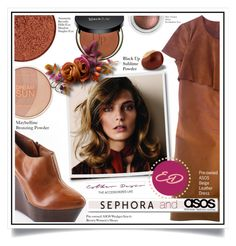 """""""Win $100 ASOS and $50 Sephora Gift Cards with The Accessorized Life by Esther Desir"""" by ewa-naukowicz-wojcik ❤ liked on Polyvore featuring ASOS, Anastasia Beverly Hills, Maybelline and White Label"""