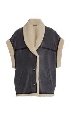 Shop the latest trends. Blue Aesthetic Grunge, Ladies Coat Design, Chanel Fashion Show, Vacation Wardrobe, Shearling Vest, Latest Fashion Design, Designing Women, Coats For Women, Winter Fashion