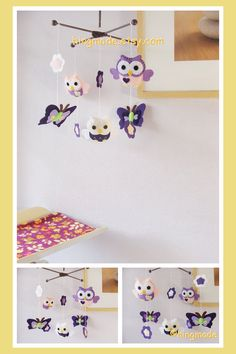 Baby Mobile  Nursery Mobile  Owl Mobile  Custom Mobile by hingmade, $88.00