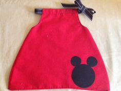 Disney Mickey Mouse Baby Dress by MarCuties on Etsy, $18.00