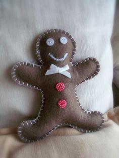 Gingerbread Man in Felt – Little Man Gingerbread - Learn and teach you