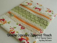 Double Exposure Zippered Pouch Sewing Tutorial - PDF from Amy DeCesare at PatternPile.com