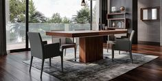 Palerma Modern Dining Table in Walnut - An Elevated Classic Latest Dining Table Designs, Modern Dining Table, Extendable Dining Table, Dining Furniture, Dining Chairs, Dining Room, Interior Design, Classic, House