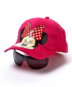 Look what I found on #zulily! Pink Disney Minnie Baseball Cap & Sunglasses by Minnie Mouse #zulilyfinds