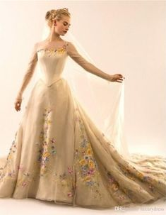 Wholesale wedding dresses under 500, wedding gown designers and wholesale wedding dresses on DHgate.com are fashion and cheap. The well-made  2015 romatic new cinderella a line wedding dresses illusion long sleeves jewel embroidery flowers chapel train organza formal bridal gowns sold by one-stopos is waiting for your attention.