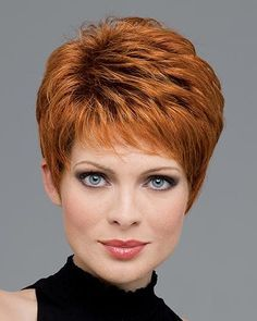 Heather by Envy Wigs - Mono Top, Lace Front, Hand Tied, Human Hair, Synthetic Blend Wig - hair styles I like - Frisuren Haircuts For Fine Hair, Short Pixie Haircuts, Hairstyles Over 50, Pixie Hairstyles, Short Hairstyles For Women, Trendy Hairstyles, Hairstyle Short, Black Hairstyles, Wedding Hairstyles
