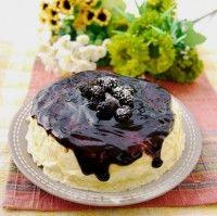 Japanse cheesecake met bramensaus, heerlijke zomerse creatie