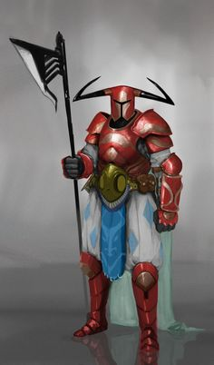 learned tons working on this guy Character Creation, Fantasy Character Design, Character Inspiration, Character Art, Character Concept, Fantasy Concept Art, Fantasy Armor, Medieval Fantasy, Red Knight