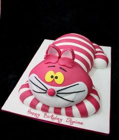 Cheshire Cat Birthday Cake | images of pin cat cake sponge coated with butter icing on pinterest ...