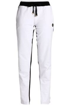 Roberto Cavalli Gym Woman Mesh-trimmed Jersey Track Pants White Size 40 Roberto Cavalli In China Cheap Online Get Authentic Genuine Sale Online Discount Best Prices Cheap Sale Original Iglww