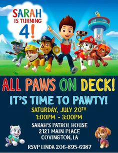 Paw Patrol Invitations #2                                                                                                                                                                                 More