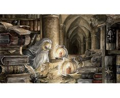 Gandalf in the archives of Minas Tirith - Anke Eißmann