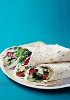 Grilled Vegetable Wrap Recipe   Vegetarian Times