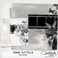 Photoshop Collage Template for Photographers - MaskArt Template Vol.4 - Digital Scrapbook Template with Photo Mask, D004 - INSTANT DOWNLOAD