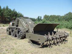 Unmanned Boneza 5 mine cleaning vehicle