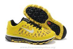 newest b9046 9e276 429889-700 Mens Nike Air Max 2011 Sonic Yellow White-Black Nike Air Max