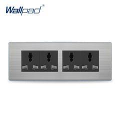 2017 Hot Sale China Manufacturer Wallpad Push Button Luxury Wall Light Switch Outlet 12 Pin Universal Socket