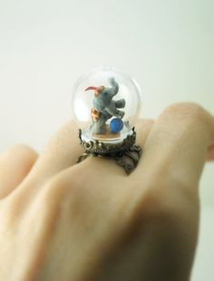 One of a Kind Elephant Ring in Pyrex Glass Dome by DIVINEsweetness, $75.00    I pretty much NEED this ring!!