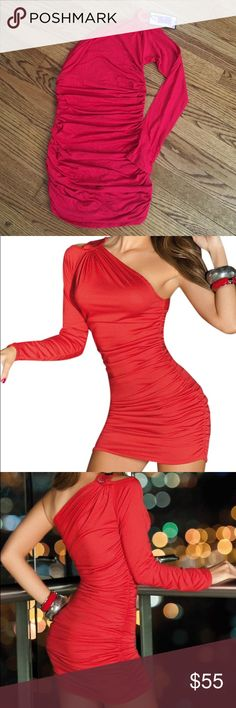 One size red dress Just gorgeous one size red dress fits beautiful new with tags Dresses