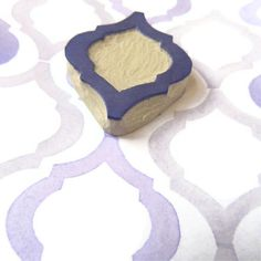 Elegant Moroccan Pattern Rubber Stamp - Hand Carved Stamp. $12.00, via Etsy.