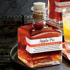 Apple Pie-Infused Bourbon and Orange-Cranberry Infused Bourbon. WHERE HAS THIS BEEN MY WHOLE LIFE?!