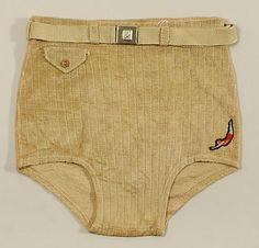 Jantzen (American, founded 1910). Beachwear (Trunks), 1930–49. The Metropolitan…