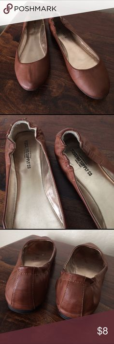 Camel Brown Ballet Flats In excellent condition! Only worn a handful of times. Mossimo Supply Co Shoes Flats & Loafers