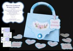 These lovely realistic designer handbag cards are so easy to make. They come with a good selection of greetings tags and a matching insert. The verse inside reads as follows: Wishing you good health, happy days   and enough money in your purse to enjoy them.