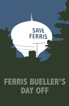 Ferris Bueller's Day Off Movie Poster by parrjosh on Etsy, $20.00