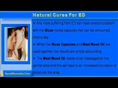 This video describes about treat erection problem with natural cures for ed.
