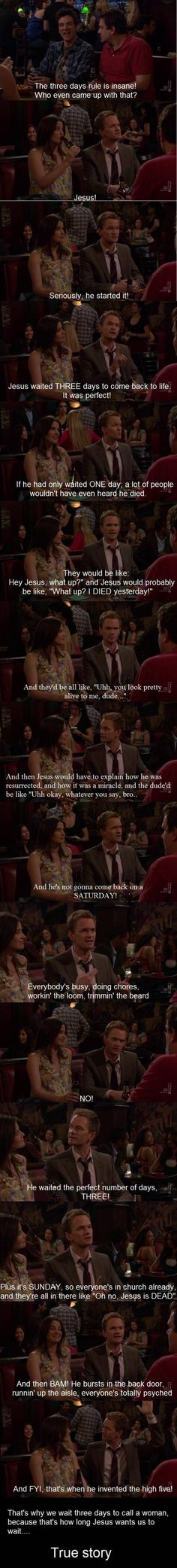 The amazing Neil Patrick Harris sense of logic... One of a kind.