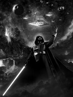 Star Wars Darth Vader GOOD composition would enjoy working on this piece