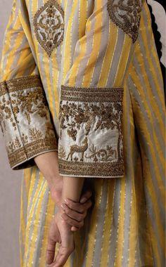 Dress Neck Designs, Bridal Blouse Designs, Designs For Dresses, Sleeve Designs, Indian Fashion Designers, Indian Designer Outfits, Pakistani Bridal Dresses, Pakistani Dress Design, Embroidery Suits Design