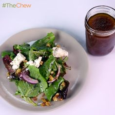 Raspberry Vinaigrette by Mario Batali! #TheChew #Dressing #Salad