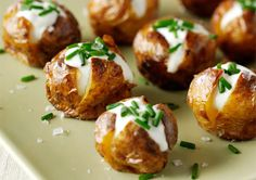 Mini jacket potatoes. An impressive centrepiece that is guaranteed to wow your guests!