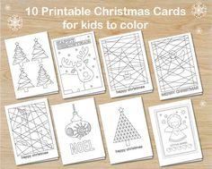 Bildresultat för easy crafts and free printables for xmas cards for kids to make