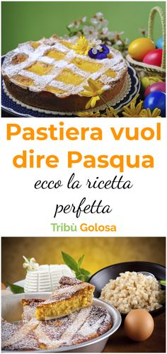 La #pastiera è un #dolcenapoletano con un impasto composto da #ricotta , #canditi , zucchero, #granobollito nel latte ed #uova . Il ripieno è piuttosto morbido, mentre l'esterno è di #pastafrolla Nella ricetta classica si usano aromi come la #cannella e l' #acquadifioridarancio #tribugolosa #gourmettribe #golosiditalia #cucina #cucinaitaliana #cucinare #italianrecipes #food #italianfood #foodstyling #yummy #foodlover #ricette #recipe #homemade #delicious #ricettefacili Ricotta, Italian Easter Pie, Biscotti Cookies, Italian Recipes, Latte, Food And Drink, Thanksgiving, Healthy Recipes, Breakfast